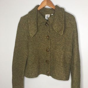 Lele button front cardigan sweater green Lithuania